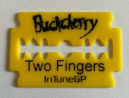 tinas picks pick plectrum collection buckcherry two fingers razorblade