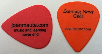 Joan Maute guitar pick plectrum guitars in the classroom Hilton Head Island