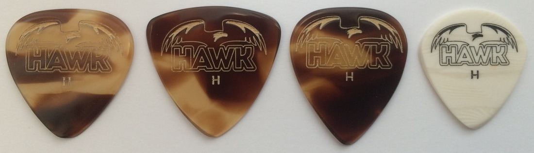 Hawk Picks tortoiseshell tinas pick collection plectrum guitarist guitar