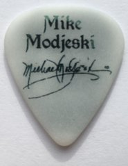 Mike Modjeski guitar pick plectrum collection